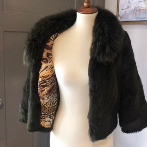 Like new Dana Stein fox fur rabbit fur coat